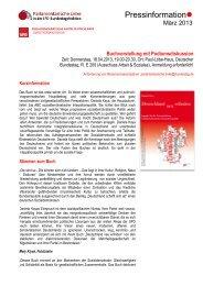 Pressinformation Pressinformation - Parlamentarische Linke