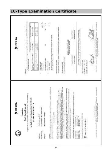 EC-Type Examination Certificate