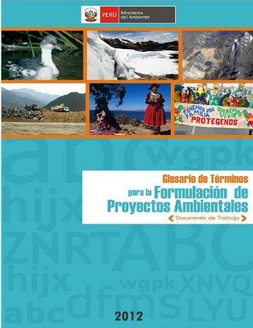 Glosario de Términos para la Formulación de Proyectos ... - CDAM