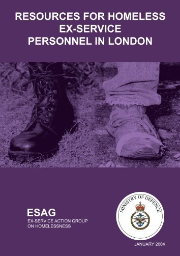 Resources For Homeless Ex-Service Personnel ... - Veterans Agency