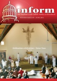 Inform 85.pdf - Catholic Diocese of Christchurch