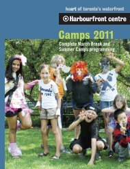 Camps 2011 - Harbourfront Centre