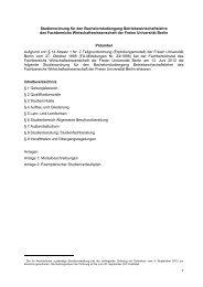 Studienordnung - Fachbereich Wirtschaftswissenschaft - Freie ...