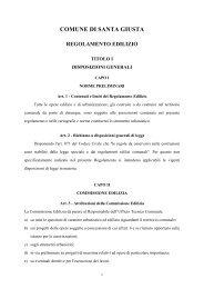 Regolamento Edilizio - Comune di Santa Giusta