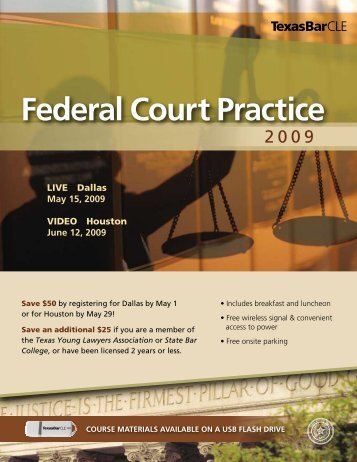 Federal Court Practice Course - Southern District of Texas
