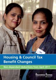 Housing & Council Tax Benefit Changes - Hounslow Homes