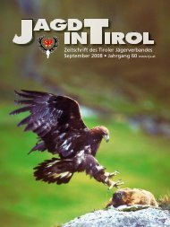 Jagd in Tirol September.indd - Tiroler Jägerverband