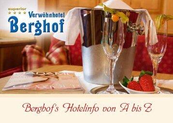 Liebe Gäste und Freunde unseres Hauses! - Hotel Berghof