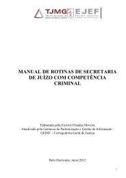 MANUAL DE ROTINAS DE SECRETARIA DE JUÍZO COM ...