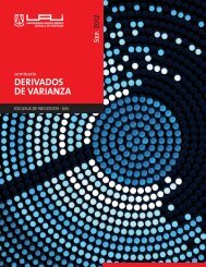DERIVADOS DE VARIANZA - Universidad Adolfo Ibañez