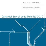Carta dei Servizi della Mobilità 2010 - FNM