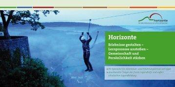 Image-Broschüre als PDF - horizonte outdoor Stuttgart
