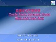 Hong Kong Cycle Track Study
