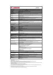 Download PIXMA MG6150 - Specification sheet - Canon Europe