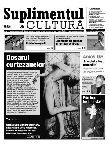 Dosarul curtezanelor - Suplimentul de Cultura