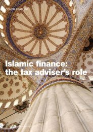 Islamic finance: the tax adviser's role