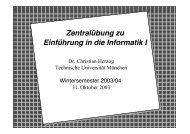 Zentralübung zu Einführung in die Informatik I - Technische ...