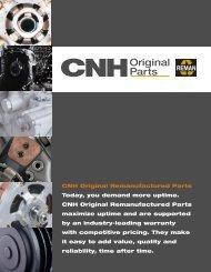 CNH Original Remanufactured Parts Today, you demand more ...