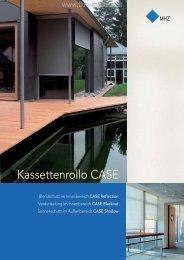 MHZ Infobroschüre Kassettenrollo CASE bei TKM ... - TKM Fenster