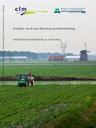 Rapport Evaluatie van de nota Duurzame gewasbescherming ... - Clm