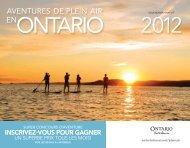 Calendrier Grandes aventures en plein air de l'Ontario 2012