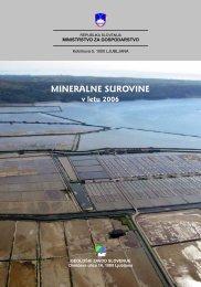 Mineralne surovine v letu 2006 - Geološki zavod Slovenije