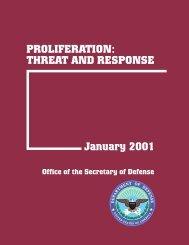 US DOD: Proliferation: Threat and Response 1-01 - Iran Watch
