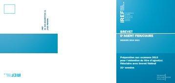 brevet d'agent fiduciaire - IREF