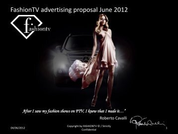 FashionTV advertising proposal June 2012 - FashionTV Corporate ...