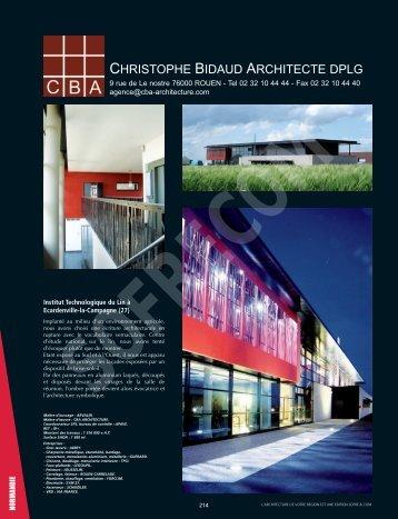 CBA - Christophe Bidaud Architecte - L'Architecture