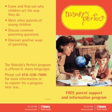 FREE parent support and information program