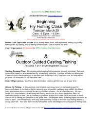 Beginning Fly Fishing Class Outdoor Guided Casting/Fishing