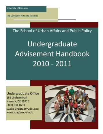 Undergraduate Advisement Handbook 2010 - 2011 - School of ...