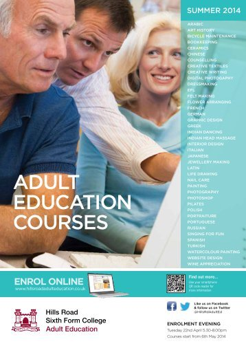 The latest Adult Education prospectus - Hills Road Sixth Form College
