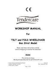 WORKSHOP MANUAL - Tendercare Ltd