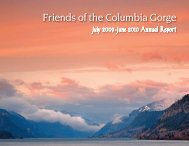 July 2009-June 2010 Annual Report - Friends of the Columbia Gorge