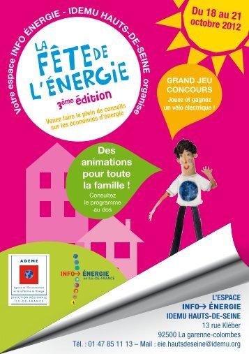 Fête de l'énergie 92 Forum - IDEMU