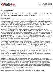 BerlinOnline: Fragen an Einstein - Max-Planck-Gesellschaft