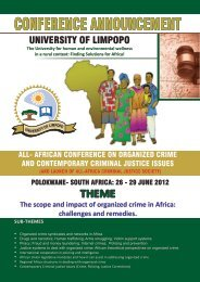 AFRICAN Conference on organized crime - University of Limpopo