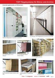 TIXIT Regalsysteme für Büros und Archive