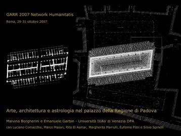 Arte, architettura e astrologia nel palazzo della Ragione di ... - Garr