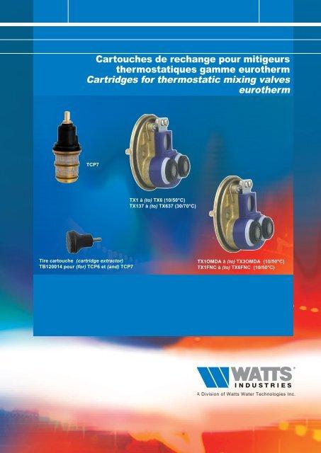 Cartouches de rechange pour mitigeurs ... - Watts Industries