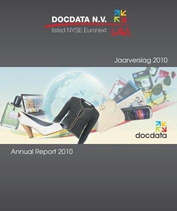 Jaarverslag 2010 Annual Report 2010 - docdata nv