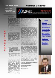 Number 01/2009 - ava cooling systems