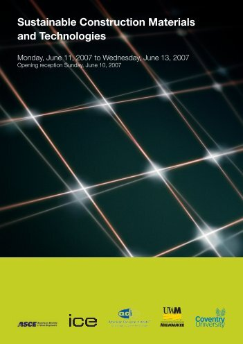 Sustainable Construction Materials and ... - UW-Milwaukee