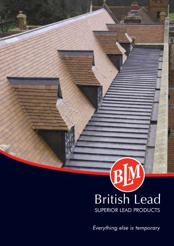 to download a pdf version of our brochure - British Lead Mills