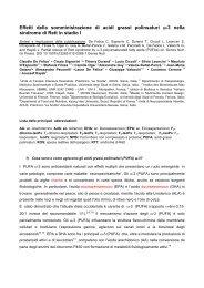 Effetti della somministrazione di acidi grassi polinsaturi -3 nella ...