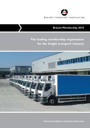 Branch membership form - Freight Transport Association