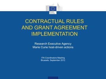 contractual rules and grant agreement implementation
