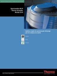 Spectromètre IR-TF Thermo Scientific Nicolet iS10